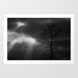 Cloud break Art Print