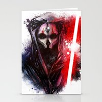 darth Stationery Cards featuring Darth Nihilus by Vincent Vernacatola