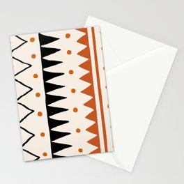 Abstraction_PRIMITIVE_TRIBE_LOVE_PATTERN_POP_ART_09PT Stationery Cards