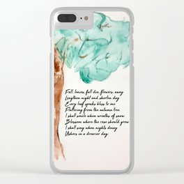 Fall, Leaves, Fall Clear iPhone Case