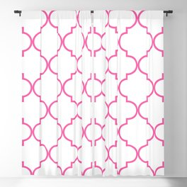 Quatrefoil - Bubblegum Blackout Curtain