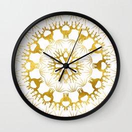 Gold Christmas 05 Wall Clock