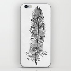 Black and White Feather Zen iPhone & iPod Skin