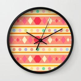 Happy Tribal Pattern Wall Clock