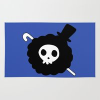 one piece Area & Throw Rugs featuring One Piece Brook yohohoho by Limon93