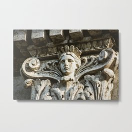 Chicago Architectural Detail Ornamental Column Face Metal Print