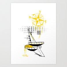Sun Dial Art Print