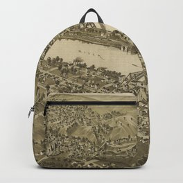 Vintage Pictorial Map of Fairmont WV (1897) Backpack