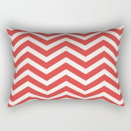 Nautical chevron pattern red Rectangular Pillow