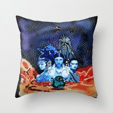 Space adventurer  Throw Pillow
