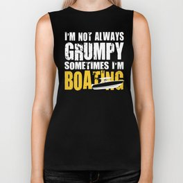 Boating Enthusiast Funny Gift Boat Owner Biker Tank
