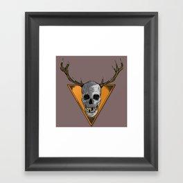 Skull Trophy Framed Art Print