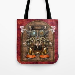 Cacotopia Steampunk Kitty - red Tote Bag