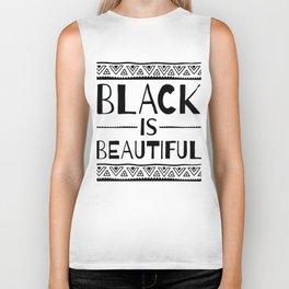 Black is Beautiful African Pattern Biker Tank