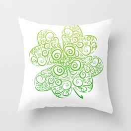 Clover Design Irish Man Gift Throw Pillow