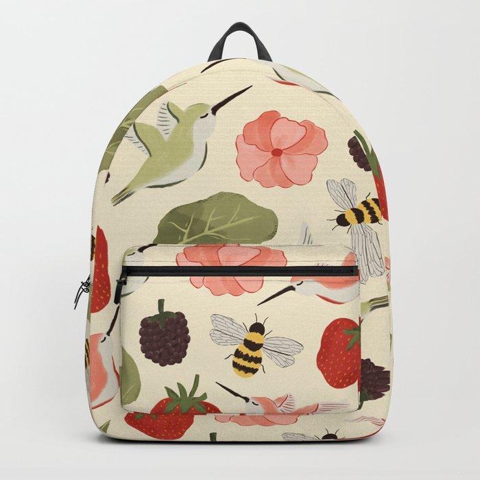 Hummingbirds in the Garden Pattern Backpack