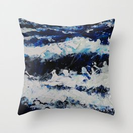 Waves IV Throw Pillow
