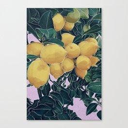 Lemons in the Sun Canvas Print