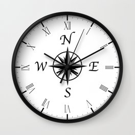 Compass Arrows Wall Clock