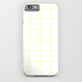 Graph Paper (Light Yellow & White Pattern) iPhone Case