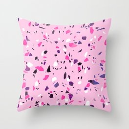 Pink Shadows Terrazzo Throw Pillow