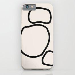 Abstract Stones, Minimalist Art iPhone Case