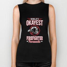 World's okayest firefighter parademic Biker Tank