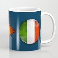 italy Mugs featuring Italy by ilustrarte