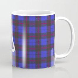 Warning! Purplish-Blue Plaid Ahead. Coffee Mug