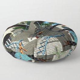 Optical Illusion - Tribute to Escher Floor Pillow