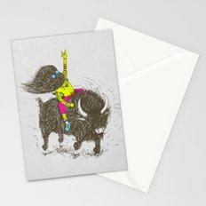 Ride a buffalo Stationery Cards