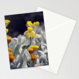 hidden gem - curious yellow flower bud Stationery Cards
