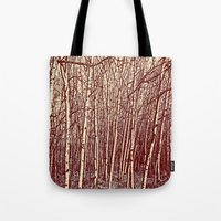 birch Tote Bags featuring Birch by Indigo Rayz