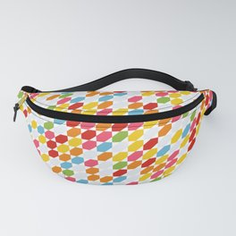 Rainbow colors pattern, gems geometric pattern, hexagon, abstract, diamonds, summer Fanny Pack
