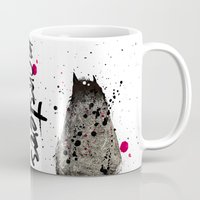 monster Mugs featuring Monster by Ariadna