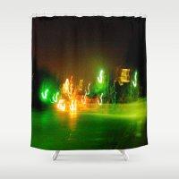 austin Shower Curtains featuring Austin Lights by Robert McHugh