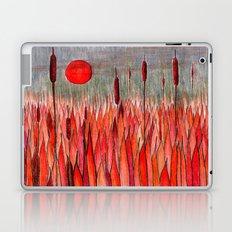 Sunset Over the Cattail Field Laptop & iPad Skin