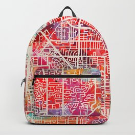 Glenview map Illinois IL 2 Backpack
