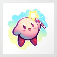 kirby Art Prints featuring KIRBY! by limb