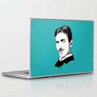 tesla Laptop & iPad Skins featuring Nikola Tesla by Laura Meg