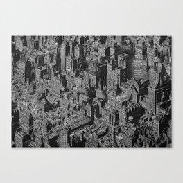 The Fantasy City. Urban Landscape Illustration. Canvas Print