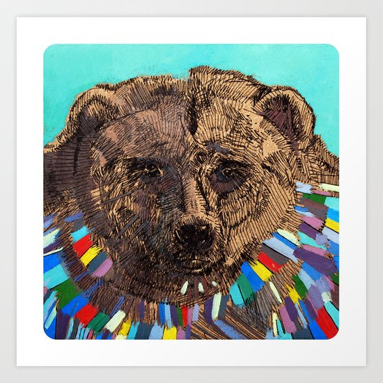 Jesus Was a Bear Art Print