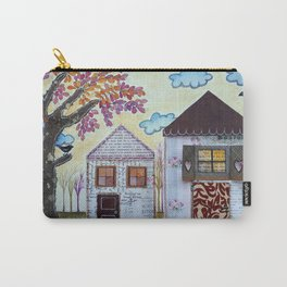 Two pink houses Carry-All Pouch