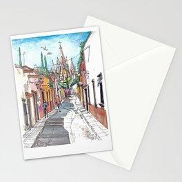 San Miguel Allende Street 1 Stationery Cards