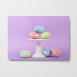 Macaron Sweet Treats Metal Print