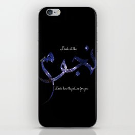 Stars - Arabic Typography iPhone Skin