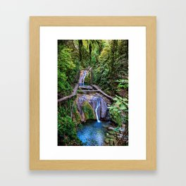 Valley of 33 waterfalls Framed Art Print
