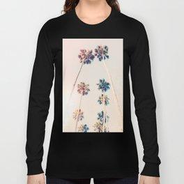 Vintage Pastel Palm trees Long Sleeve T-shirt