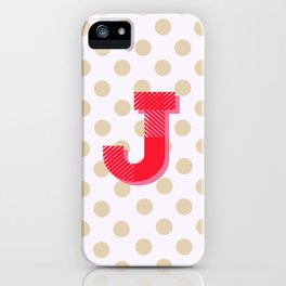 J is for Joy iPhone Case