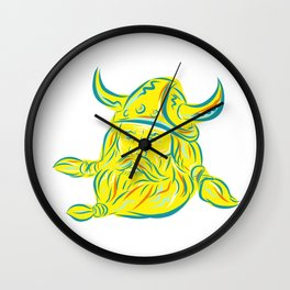 Norseman Viking Beard Etching Wall Clock